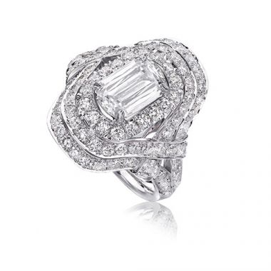 Christopher Design L'Amour Collection Triple Diamond Halo Engagement Ring